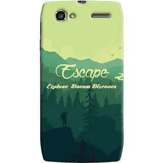 Oyehoye Travellers Escape Printed Designer Back Cover For Motorola RAZR V XT885 Mobile Phone - Matte Finish Hard Plastic Slim Case