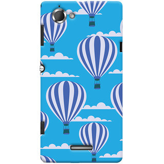 Oyehoye Hot Air Balloon Pattern Style Printed Designer Back Cover For Sony Xperia L Mobile Phone - Matte Finish Hard Plastic Slim Case