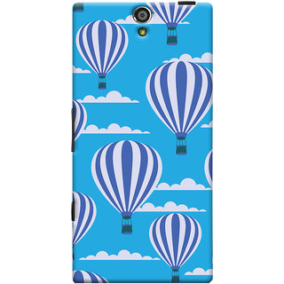 Oyehoye Hot Air Balloon Pattern Style Printed Designer Back Cover For Sony Xperia S Mobile Phone - Matte Finish Hard Plastic Slim Case