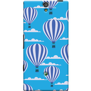 Oyehoye Hot Air Balloon Pattern Style Printed Designer Back Cover For Sony Xperia SL Mobile Phone - Matte Finish Hard Plastic Slim Case