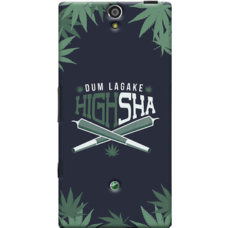 Oyehoye Dum Laga Ke Highsha Quirky Printed Designer Back Cover For Sony Xperia SL Mobile Phone - Matte Finish Hard Plastic Slim Case
