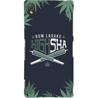 Oyehoye Dum Laga Ke Highsha Quirky Printed Designer Back Cover For Sony Xperia Z3 Compact / Mini Mobile Phone - Matte Finish Hard Plastic Slim Case