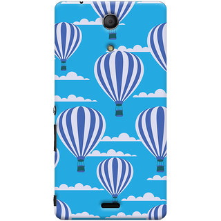 Oyehoye Hot Air Balloon Pattern Style Printed Designer Back Cover For Sony Xperia ZR Mobile Phone - Matte Finish Hard Plastic Slim Case