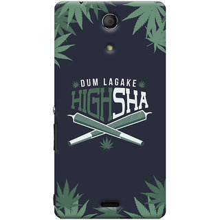 Oyehoye Dum Laga Ke Highsha Quirky Printed Designer Back Cover For Sony Xperia ZR Mobile Phone - Matte Finish Hard Plastic Slim Case