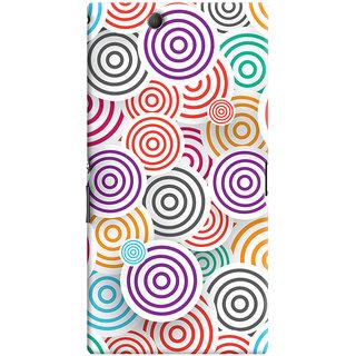 Oyehoye Colourful Pattern Printed Designer Back Cover For Sony Xperia Z Ultra Mobile Phone - Matte Finish Hard Plastic Slim Case