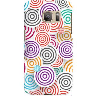 Oyehoye Colourful Pattern Printed Designer Back Cover For Samsung Galaxy S7 Edge Mobile Phone - Matte Finish Hard Plastic Slim Case