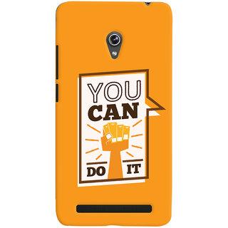 Oyehoye Motivational Quote Printed Designer Back Cover For Asus Zenfone 6 Mobile Phone - Matte Finish Hard Plastic Slim Case
