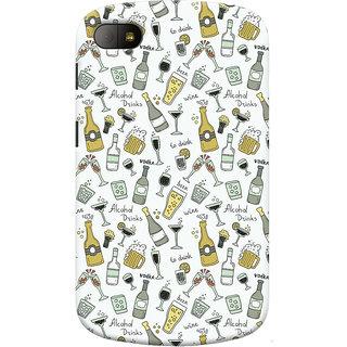 Oyehoye Patter Style Printed Designer Back Cover For Blackberry Q10 Mobile Phone - Matte Finish Hard Plastic Slim Case