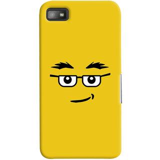 Oyehoye Quirky Smiley Expression Printed Designer Back Cover For Blackberry Z1O Mobile Phone - Matte Finish Hard Plastic Slim Case