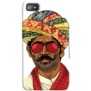Oyehoye Desi Swag Quirky Printed Designer Back Cover For Blackberry Z1O Mobile Phone - Matte Finish Hard Plastic Slim Case