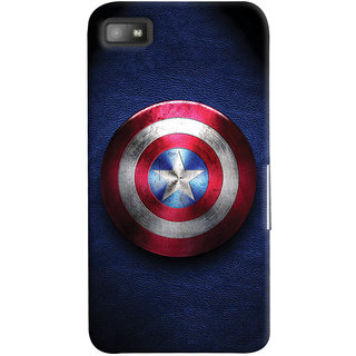 Oyehoye Captain America Printed Designer Back Cover For Blackberry Z1O Mobile Phone - Matte Finish Hard Plastic Slim Case