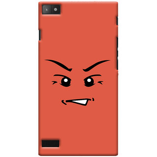 Oyehoye Angry Smiley Quirky Printed Designer Back Cover For Blackberry Z3 Mobile Phone - Matte Finish Hard Plastic Slim Case