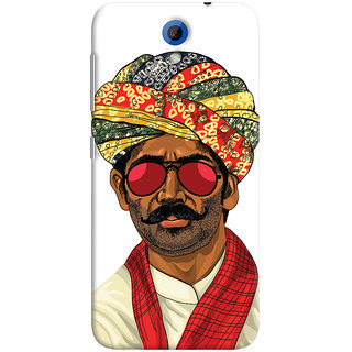 Oyehoye Desi Swag Quirky Printed Designer Back Cover For HTC Desire 620 Mobile Phone - Matte Finish Hard Plastic Slim Case