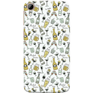 Oyehoye Patter Style Printed Designer Back Cover For HTC Desire 828 / Dual Sim Mobile Phone - Matte Finish Hard Plastic Slim Case