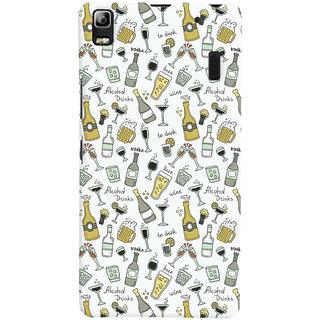 Oyehoye Patter Style Printed Designer Back Cover For Lenovo A7000 Mobile Phone - Matte Finish Hard Plastic Slim Case