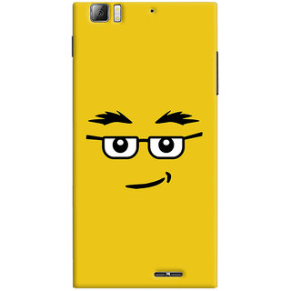 Oyehoye Quirky Smiley Expression Printed Designer Back Cover For Lenovo K900 Mobile Phone - Matte Finish Hard Plastic Slim Case