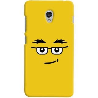 Oyehoye Quirky Smiley Expression Printed Designer Back Cover For Lenovo Vibe P1M Mobile Phone - Matte Finish Hard Plastic Slim Case