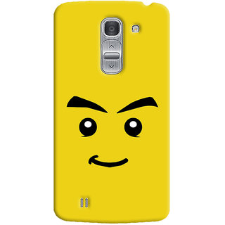 Oyehoye Sarcastic Smiley Quirky Printed Designer Back Cover For LG Pro 2 / D838 Mobile Phone - Matte Finish Hard Plastic Slim Case