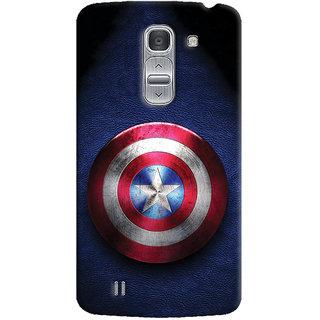 Oyehoye Captain America Printed Designer Back Cover For LG Pro 2 / D838 Mobile Phone - Matte Finish Hard Plastic Slim Case