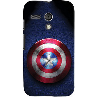 Oyehoye Captain America Printed Designer Back Cover For Motorola Moto G Mobile Phone - Matte Finish Hard Plastic Slim Case