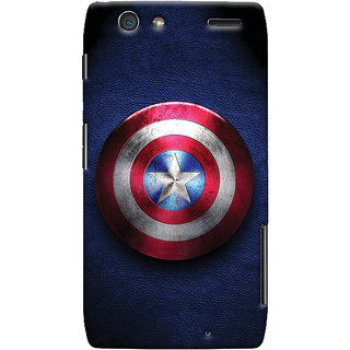 Oyehoye Captain America Printed Designer Back Cover For Motorola Razr Maxx Mobile Phone - Matte Finish Hard Plastic Slim Case