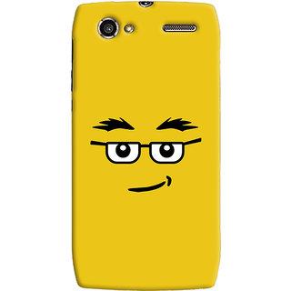 Oyehoye Quirky Smiley Expression Printed Designer Back Cover For Motorola RAZR V XT885 Mobile Phone - Matte Finish Hard Plastic Slim Case