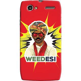 Oyehoye WEEDesi Quirky Style Printed Designer Back Cover For Motorola RAZR V XT885 Mobile Phone - Matte Finish Hard Plastic Slim Case