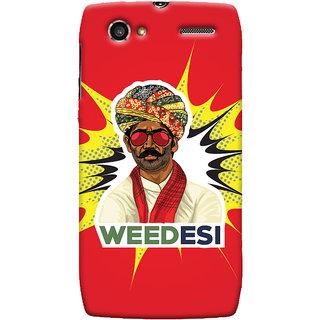 Oyehoye WEEDesi Quirky Style Printed Designer Back Cover For Motorola RAZR V XT889 Mobile Phone - Matte Finish Hard Plastic Slim Case