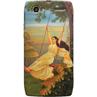 Oyehoye Meera Mythological Art Printed Designer Back Cover For Motorola RAZR V XT889 Mobile Phone - Matte Finish Hard Plastic Slim Case