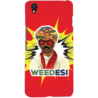 Oyehoye WEEDesi Quirky Style Printed Designer Back Cover For OnePlus X Mobile Phone - Matte Finish Hard Plastic Slim Case