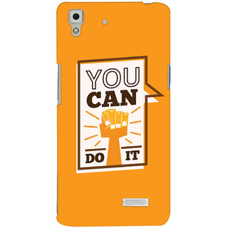 Oyehoye Motivational Quote Printed Designer Back Cover For Oppo R7 Mobile Phone - Matte Finish Hard Plastic Slim Case