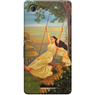Oyehoye Meera Mythological Art Printed Designer Back Cover For Sony Xperia E3 Mobile Phone - Matte Finish Hard Plastic Slim Case