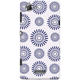 Oyehoye Pattern Style Printed Designer Back Cover For Sony Xperia L Mobile Phone - Matte Finish Hard Plastic Slim Case