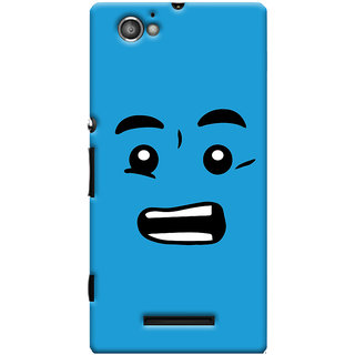 Oyehoye Quirky Smiley Printed Designer Back Cover For Sony Xperia M Mobile Phone - Matte Finish Hard Plastic Slim Case