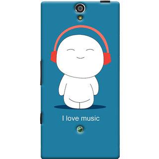 Oyehoye I Love Music Printed Designer Back Cover For Sony Xperia SL Mobile Phone - Matte Finish Hard Plastic Slim Case