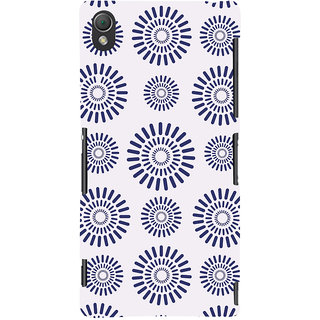 Oyehoye Pattern Style Printed Designer Back Cover For Sony Xperia Z3 Compact / Mini Mobile Phone - Matte Finish Hard Plastic Slim Case
