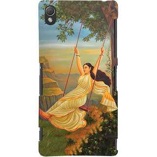 Oyehoye Meera Mythological Art Printed Designer Back Cover For Sony Xperia Z3 Compact / Mini Mobile Phone - Matte Finish Hard Plastic Slim Case