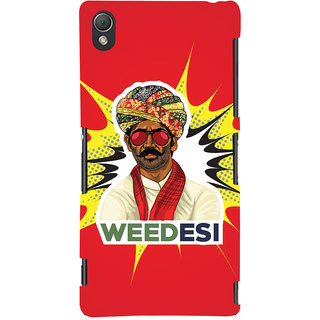 Oyehoye WEEDesi Quirky Style Printed Designer Back Cover For Sony Xperia Z3 Mobile Phone - Matte Finish Hard Plastic Slim Case
