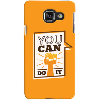 Oyehoye Motivational Quote Printed Designer Back Cover For Samsung Galaxy A3 A310 (2016 Edition) Mobile Phone - Matte Finish Hard Plastic Slim Case