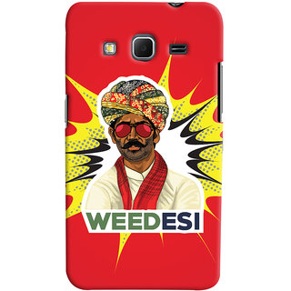 Oyehoye WEEDesi Quirky Style Printed Designer Back Cover For Samsung Galaxy Core Prime G360 Mobile Phone - Matte Finish Hard Plastic Slim Case