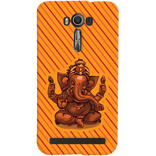 Oyehoye Lord Ganesha Ganpati Devotional Printed Designer Back Cover For Asus Zenfone 2 Laser ZE550KL / Zenfone 5.5 Mobile Phone - Matte Finish Hard Plastic Slim Case