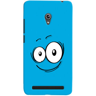 Oyehoye Smiley Expression Style Printed Designer Back Cover For Asus Zenfone 6 Mobile Phone - Matte Finish Hard Plastic Slim Case