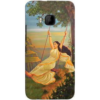 Oyehoye Meera Mythological Art Printed Designer Back Cover For HTC One M9 Mobile Phone - Matte Finish Hard Plastic Slim Case