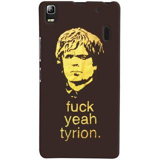 Oyehoye Tyron From Game Of Thrones Printed Designer Back Cover For Lenovo A7000 Mobile Phone - Matte Finish Hard Plastic Slim Case