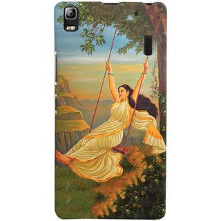 Oyehoye Meera Mythological Art Printed Designer Back Cover For Lenovo A7000 Mobile Phone - Matte Finish Hard Plastic Slim Case