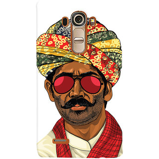 Oyehoye Desi Swag Quirky Printed Designer Back Cover For LG G4 H818N Mobile Phone - Matte Finish Hard Plastic Slim Case