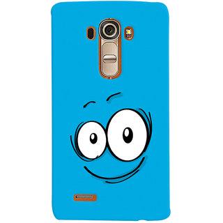 Oyehoye Smiley Expression Style Printed Designer Back Cover For LG G4 H818N Mobile Phone - Matte Finish Hard Plastic Slim Case