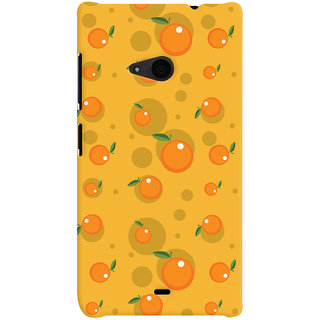 Oyehoye Fruity Pattern Style Printed Designer Back Cover For Microsoft Lumia 535 / Dual Sim Mobile Phone - Matte Finish Hard Plastic Slim Case