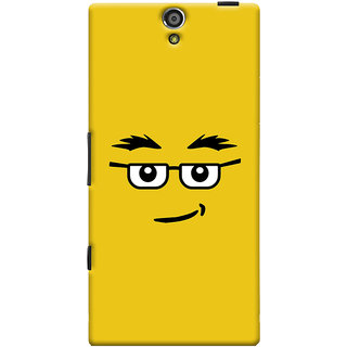 Oyehoye Quirky Smiley Expression Printed Designer Back Cover For Sony Xperia S Mobile Phone - Matte Finish Hard Plastic Slim Case