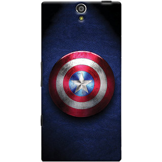 Oyehoye Captain America Printed Designer Back Cover For Sony Xperia S Mobile Phone - Matte Finish Hard Plastic Slim Case